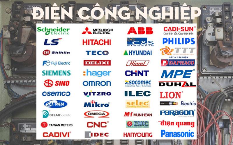 Các thương hiệu cung cấp thiết bị điện công nghiệp lớn